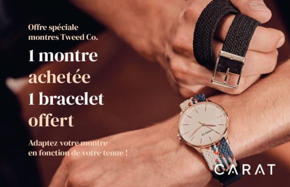 carat 1 montre achetée, 1 bracelet offert